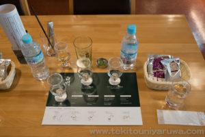 白州ハイボール作り用の原酒セット、水、おつまみ