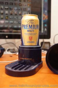 ビアサーバーにプレミアムモルツ500ml缶を入れたところ