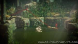 Unravel池を渡る
