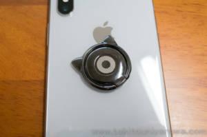 リングを取り付けたiPhoneX