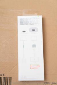 Apple Thunderbolt 3 to Thunderbolt 2 Adapter 箱 裏側