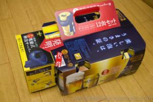 プレミアムモルツ12缶パックと神泡サーバー