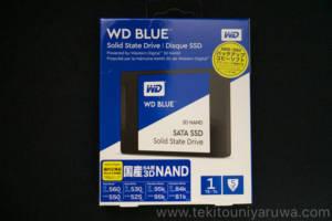 WD Blue SSDのパッケージ